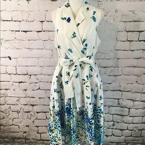☀️Jones Wear white Flower Dress Size 16